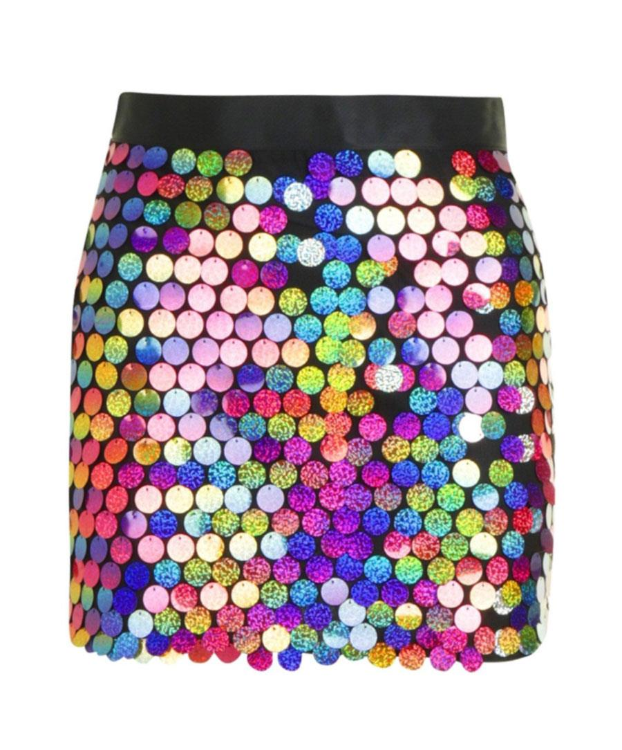 da6e61557 Minifalda Lentejuelas Colores | Wig Elegance