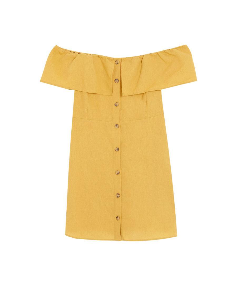 77437a6164 colores-de-moda-vestido-amarillo. Vestido de moda en color amarillo