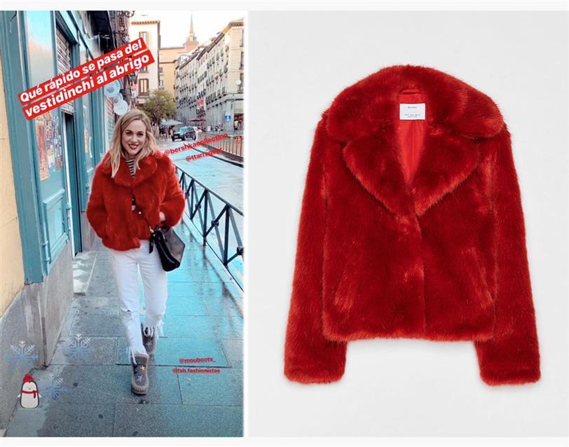 llegando estilo exquisito zapatos deportivos Marta Hazas tiene el abrigo de pelo más barato para el día y ...