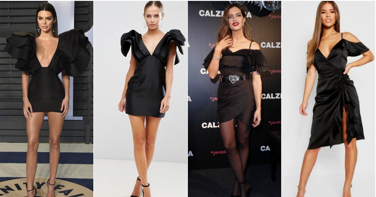 13e28545588 Vestidos negros de fiesta  los favoritos de las famosas a precio barato -  InStyle