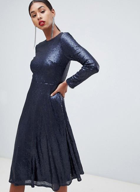 b1bdd2f16b vestido azul marino de lentejuelas. Vestidos de lentejuelas