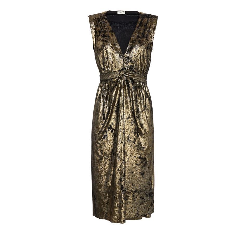 6fc024373f1 vestido-fiesta-masscob-terciopelo. Vestido de fiesta de terciopelo dorado