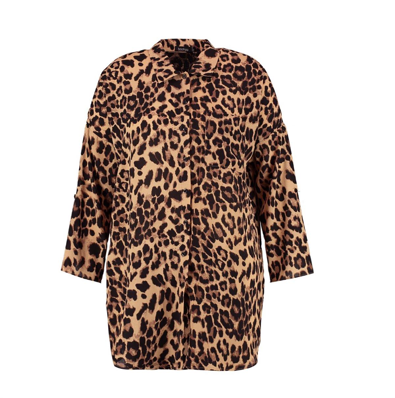 780b5c49c boohoo-rebajas-camisa-leopardo. Blusa de leopardo  tendencias que puedes  comprar