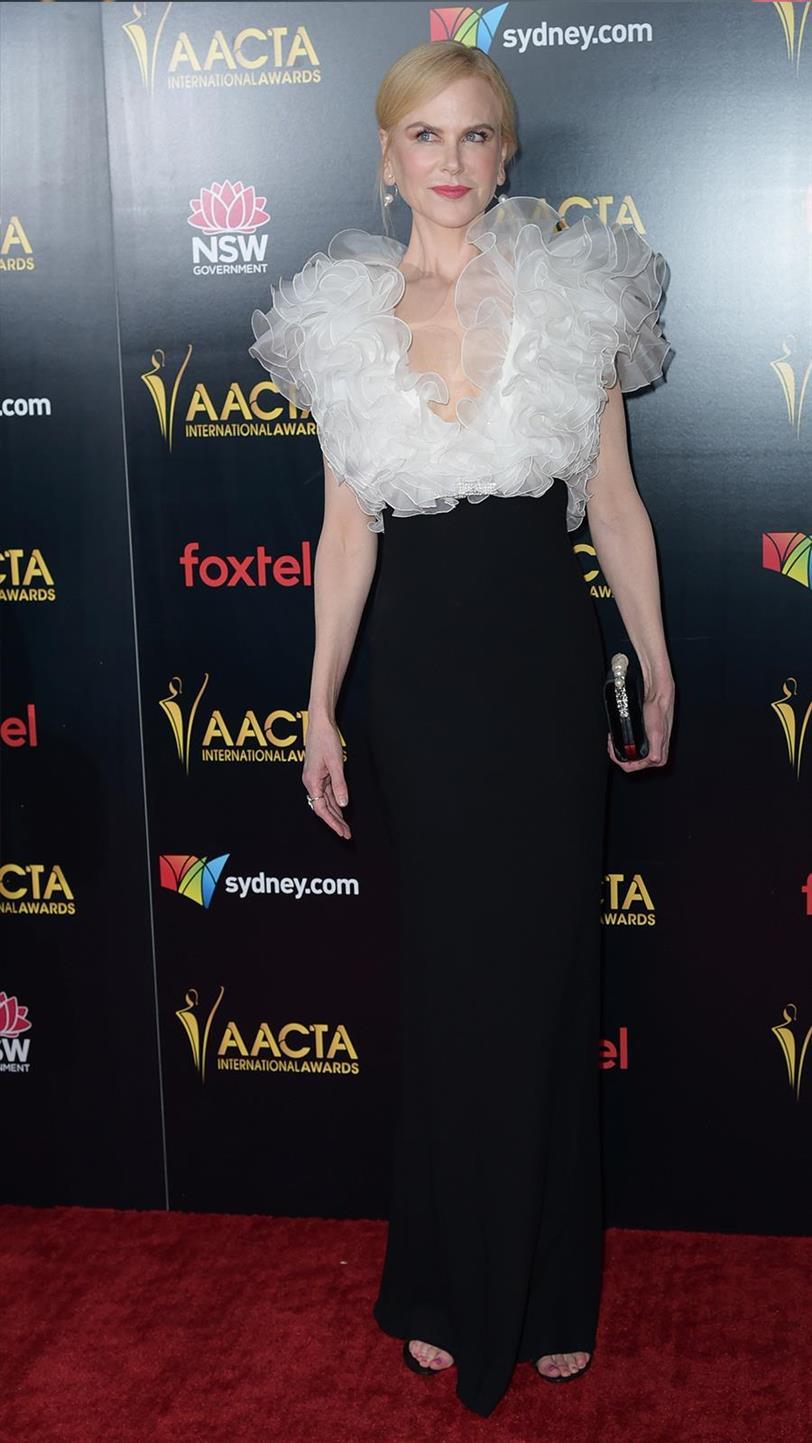 Nicole Kidman se cubre de volantes en la alfombra roja