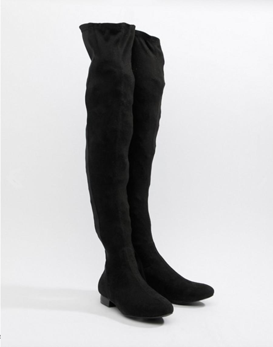 1d71e463b2 botas-mosqueteras-asos-rebajas. Botas mosqueteras negras