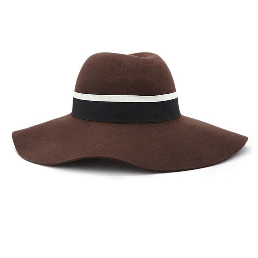 Sombrero de ala ancha de Forever 21 Solo disponible en color marrón y dos  tallas ( 452f7b10edb3