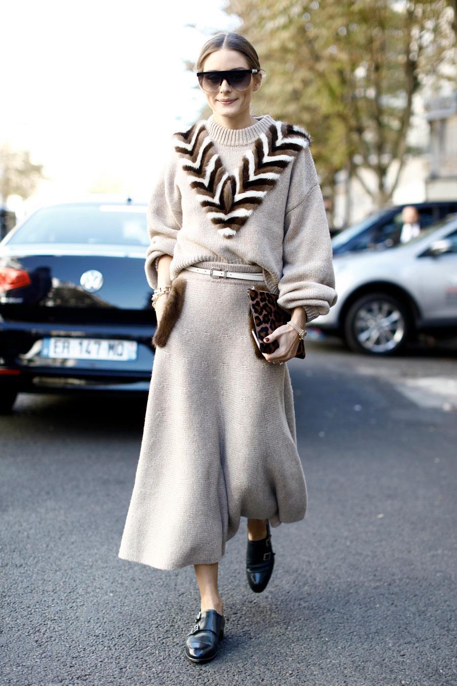 los-mejores-looks-de-olivia-palermo-falda-beige. 7cf1dc2c07b6