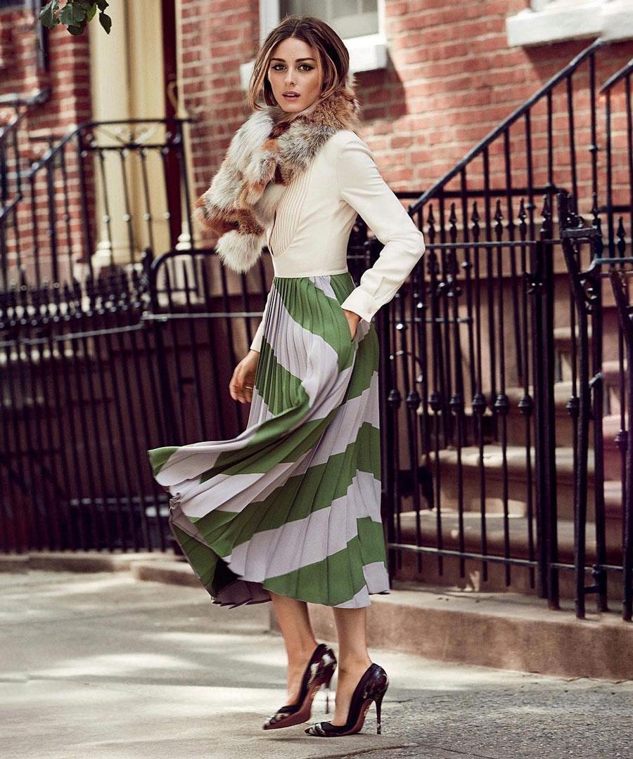 los-mejores-looks-de-olivia-palermo-falda-midi. 0b0681abe66f