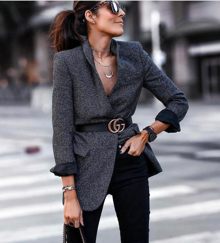64e273407 Cómo combinar la ropa de mujer y parecer más delgada  Blazer + ...