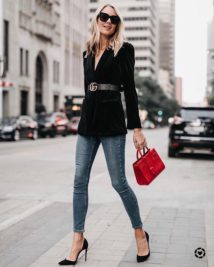 6a1552e126d4 Cómo combinar la ropa de mujer y parecer más delgada: Blazer + ...