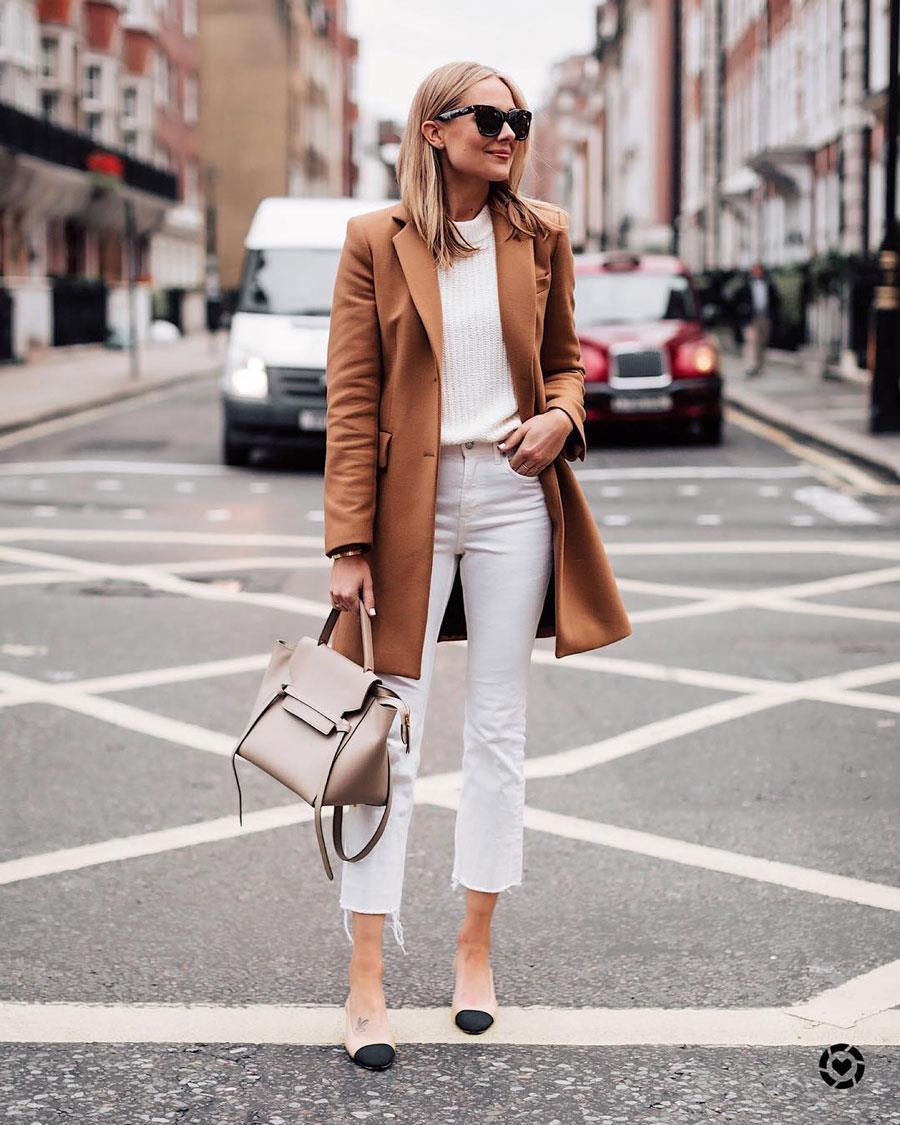 Pantalon Blanco Tendencia De Moda Primavera Verano 2019