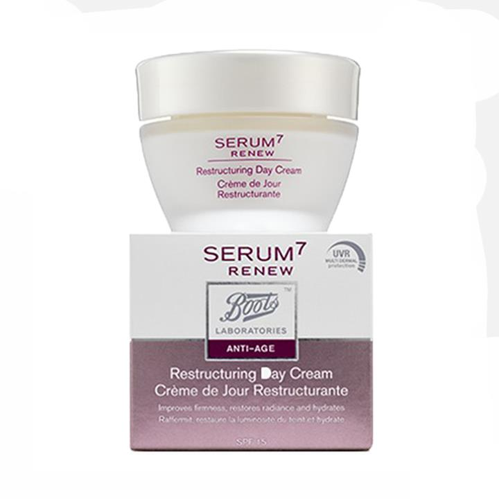 Serum 7 Renew crema reestructurante de día 50ml . Crema antiarrugas Serum 7 Renew