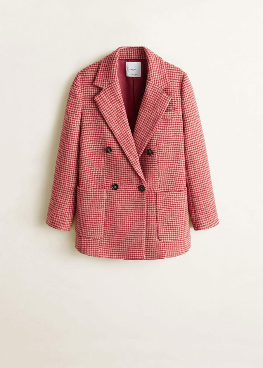 95c45d3ff30 abrigo-rosa-primavera-2019-mango. Abrigo rosa pata de gallo