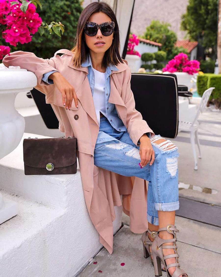 ceec0aab9bb abrigo-rosa-primavera-2019-tacones. Cómo llevar el abrigo rosa