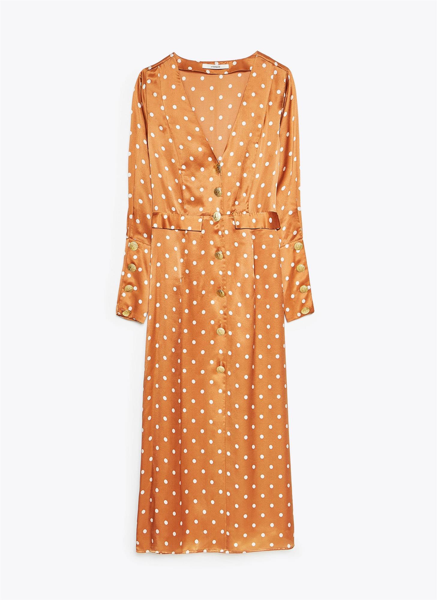 ab5e3f985 vestido de invitada primavera verano 2019 naranja. Vestido naranja