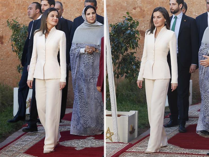 Letizia Ortiz repite el look con el que Felipe VI pidió su mano en ... e96fcfff625