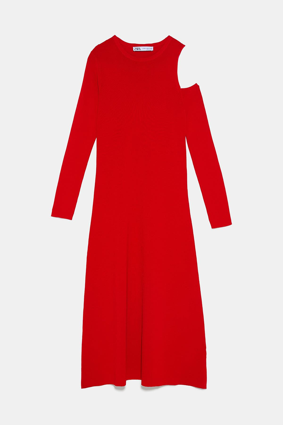 Vestido rojo largo zara 2019