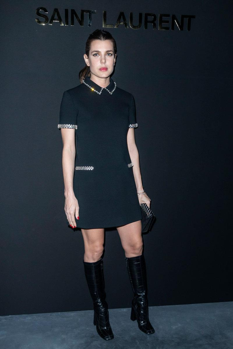 Carlota Casiraghi en el desfile de Saint Laurent