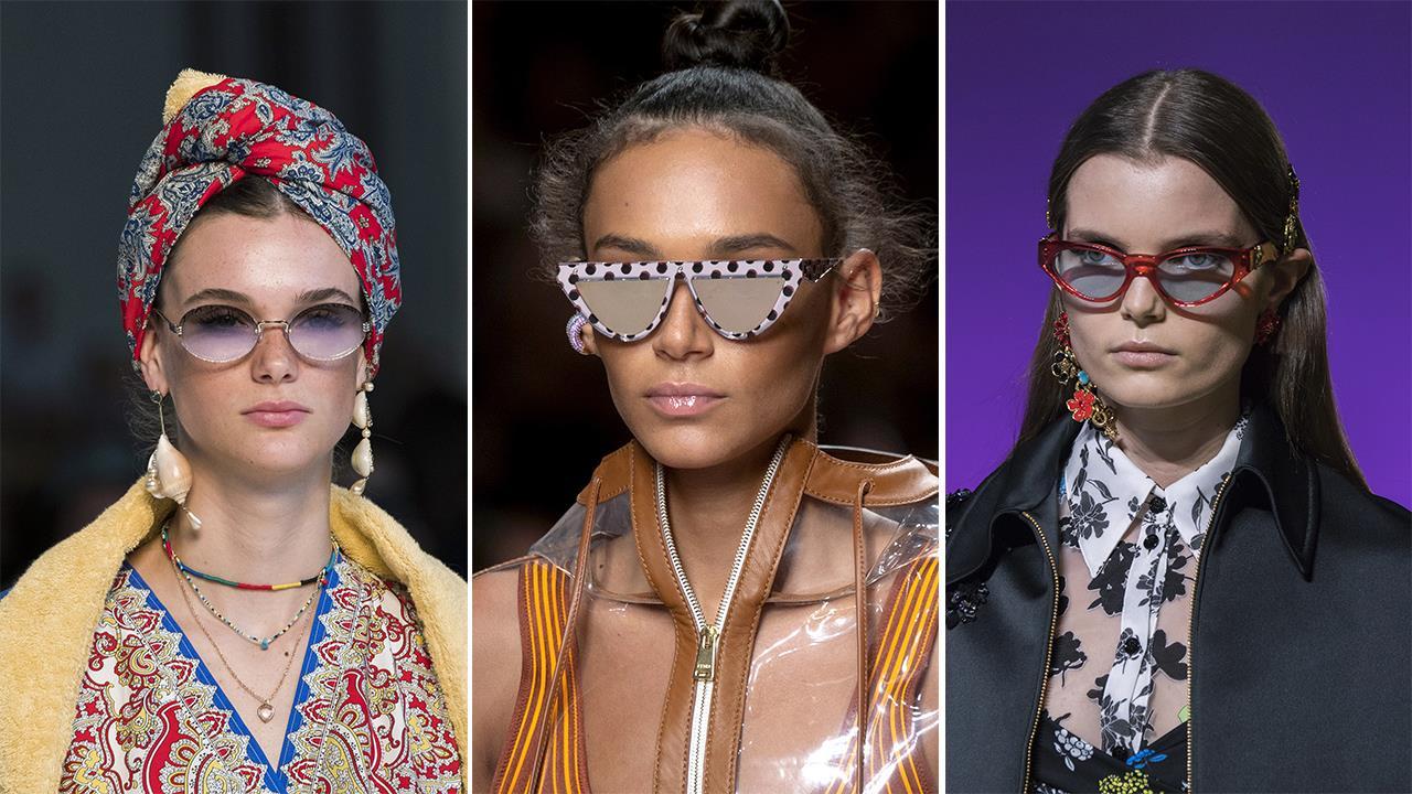 1d7c06fa30 Nos fijamos en las colecciones primavera-verano 2019 para descubrir cómo  será la moda en gafas de sol estos meses. Lo mejor de todo es que tenemos  ...