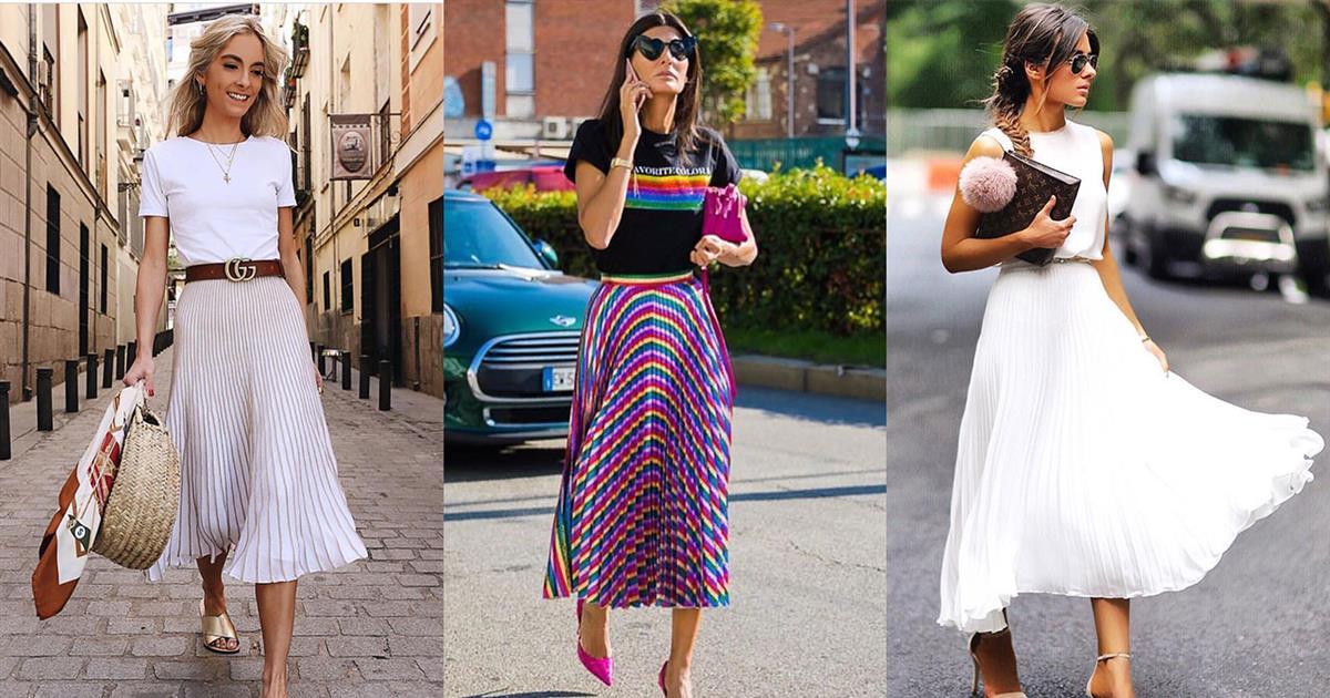 3f30dcf90b Falda plisada de moda primavera-verano 2019