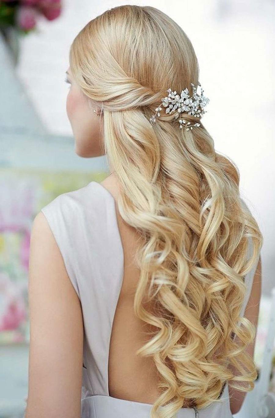 Peinados para boda semirecogidos