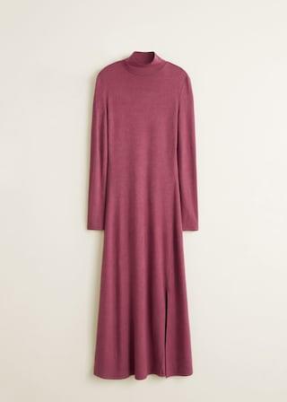 vestido-punto-mango. Vestido de punto y cuello cisne 6a6eb25c48bd