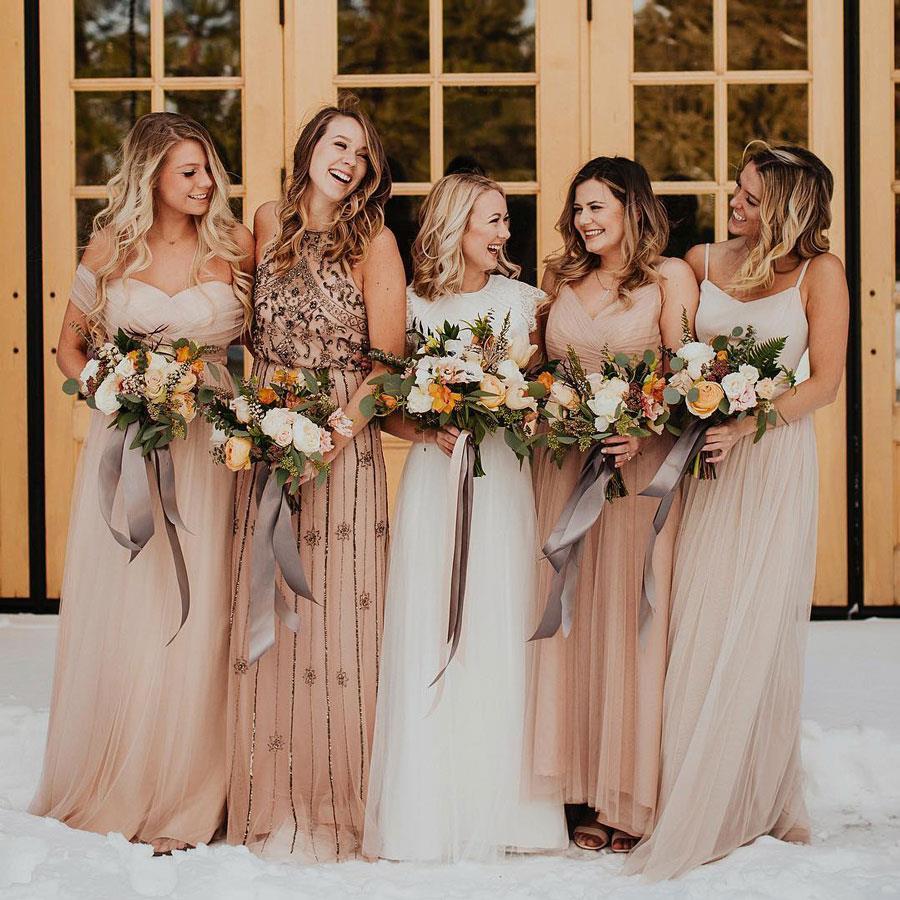 fe8482d20 vestidos damas de honor beige. Vestidos de damas de honor  TODAS las  tendencias Primavera