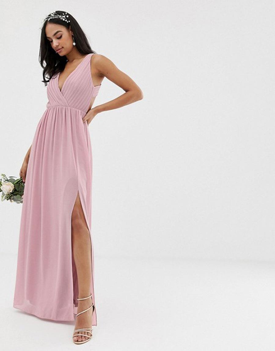 c9b40d185 vestidos damas de honor rosa. Vestido de dama de honor en rosa pastel