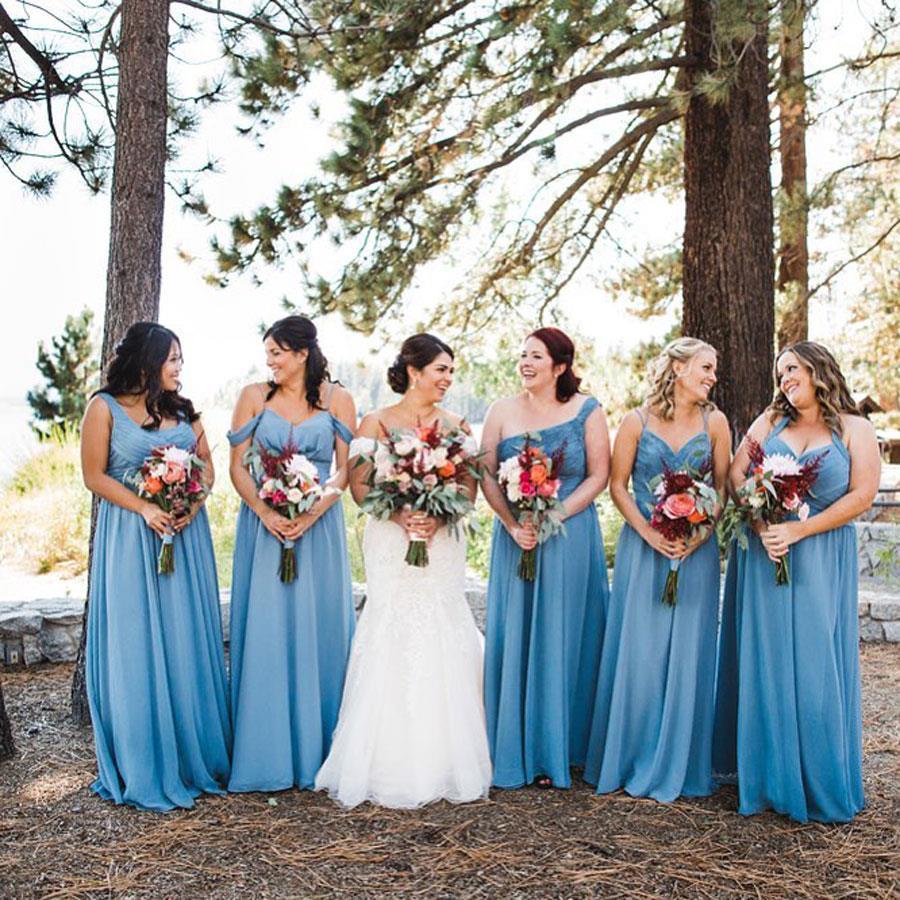 da42728533 vestidos damas de honor vestidos azules. Vestidos de damas de honor en  color azul