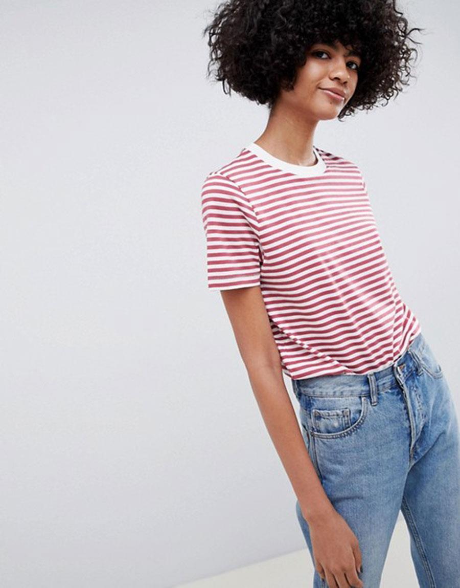 de5df7751f2 camiseta-rayas-asos. Camiseta con estampado de rayas