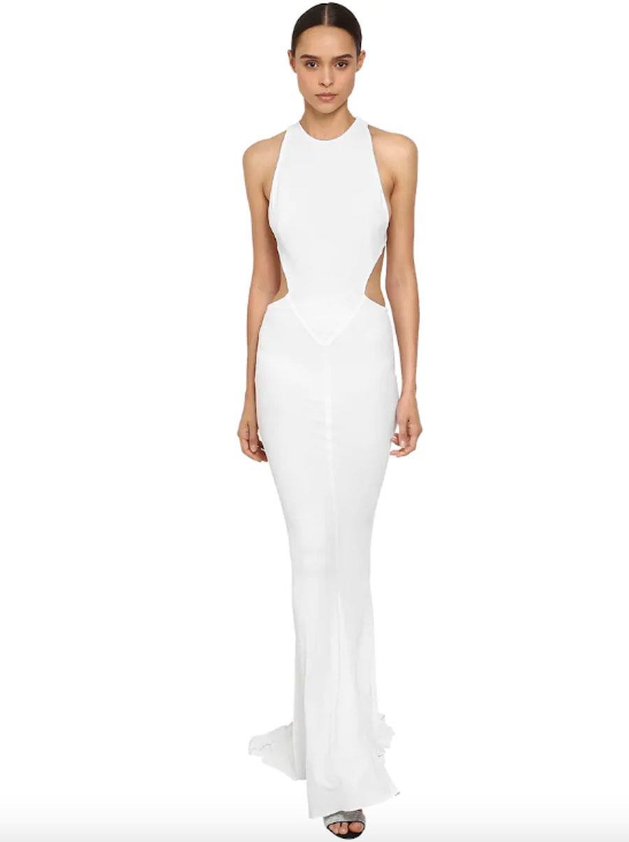 0970c964c vestidos de novia de moda primavera verano 2019 con aberturas. Vestido de  novia largo con