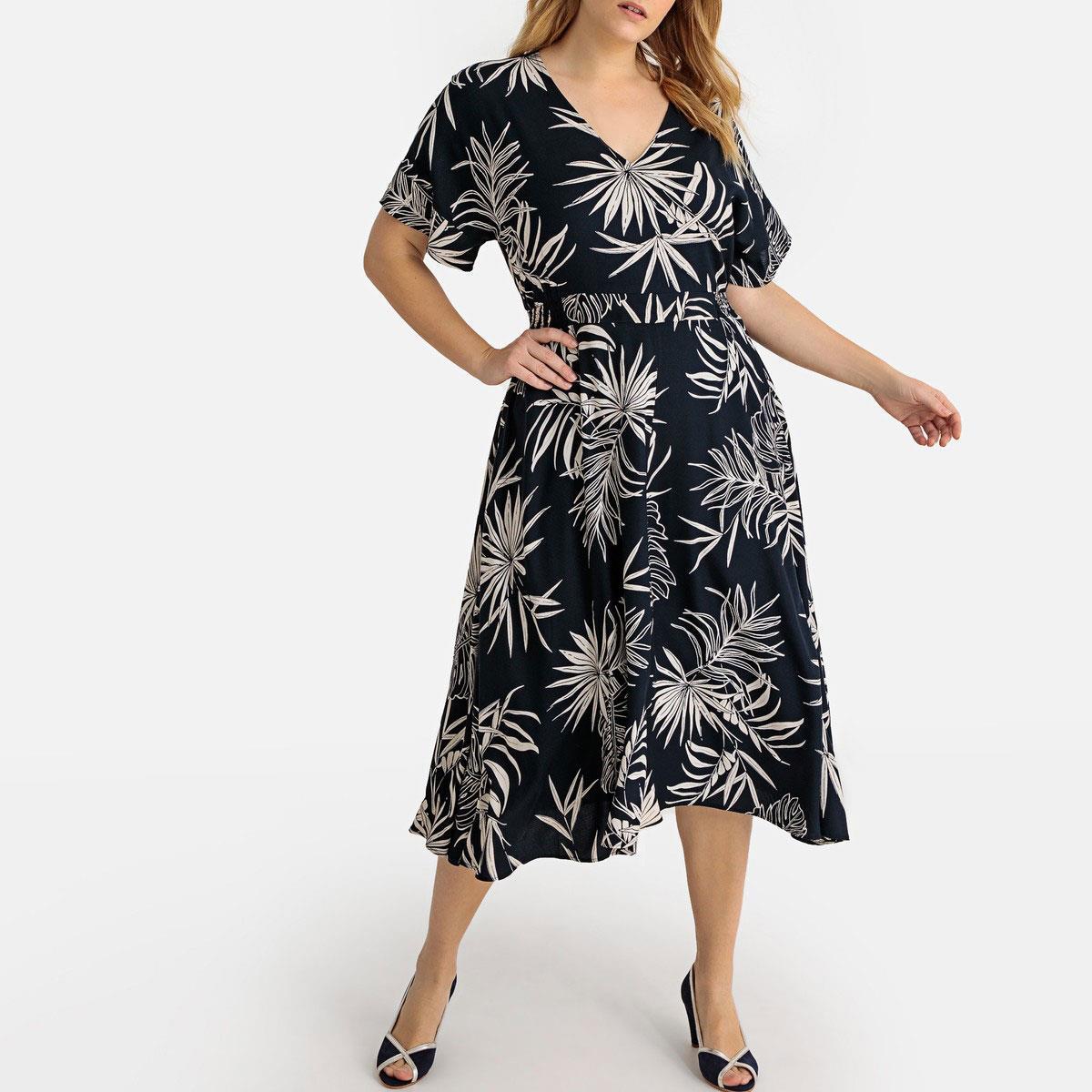 bdc065c2e7 vestidos moda primavera verano 2019 para gorditas de flores. Vestido midi  con estampado de flores