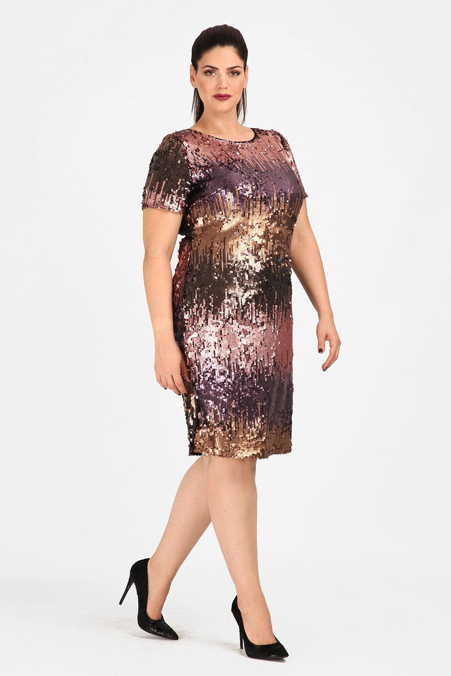 b81e6f5c9 vestidos moda primavera verano 2019 para gorditas lentejuelas. Vestido con  lentejuelas para tus looks de