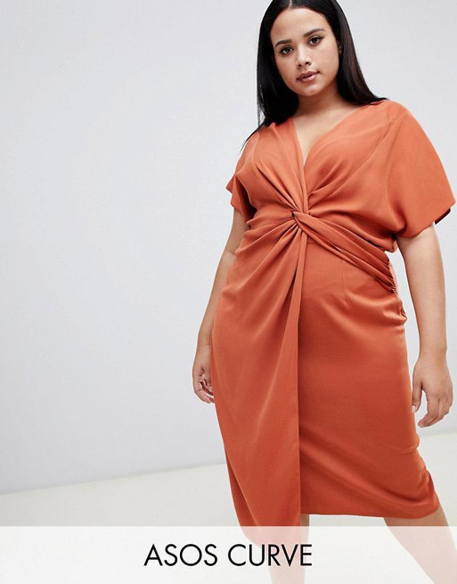 7fecc7edaa vestidos moda primavera verano 2019 para gorditas naranja. Vestido naranja