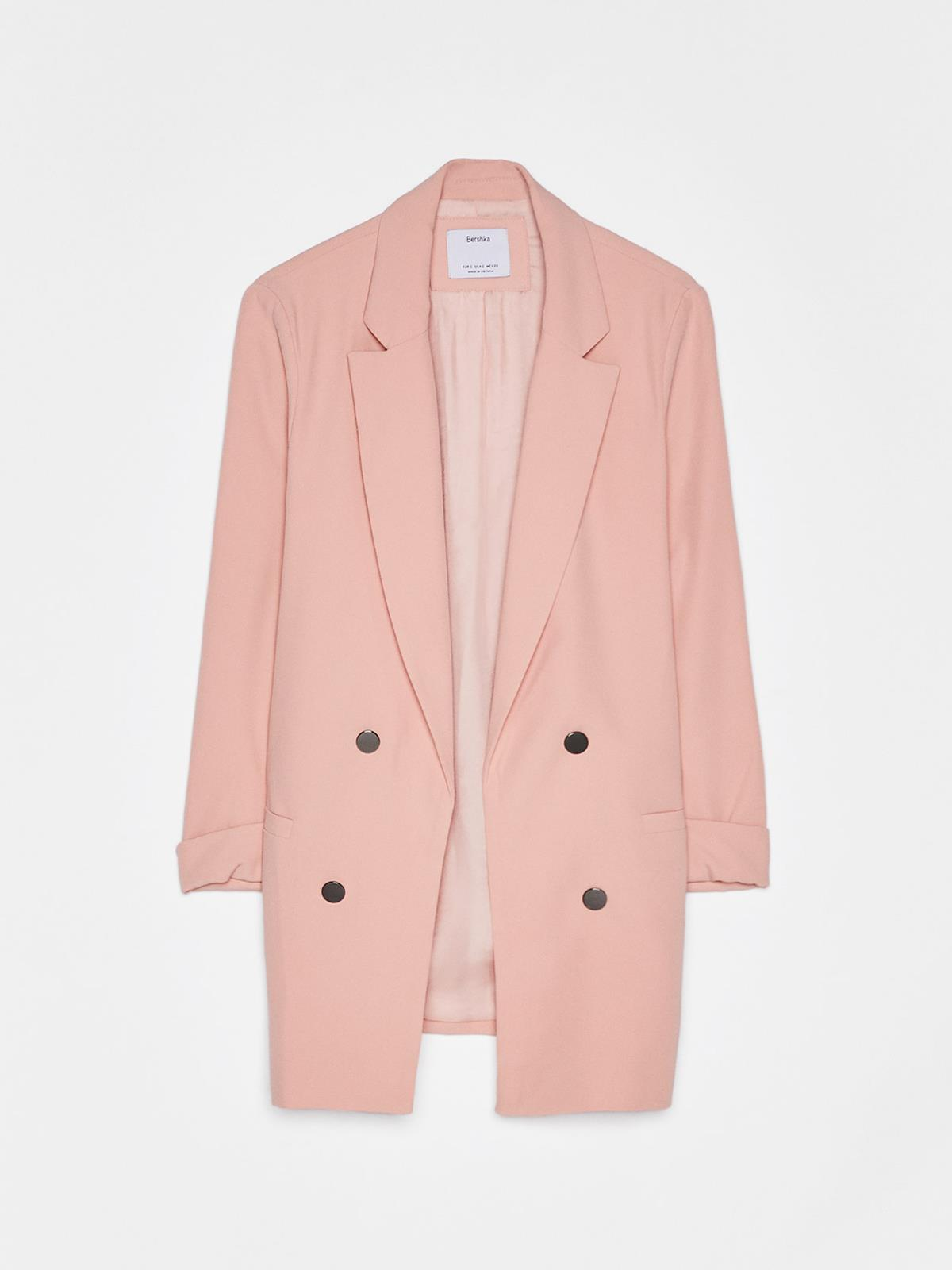 21ec17d78 blazer-rosa-bershka. Blazer rosa pastel