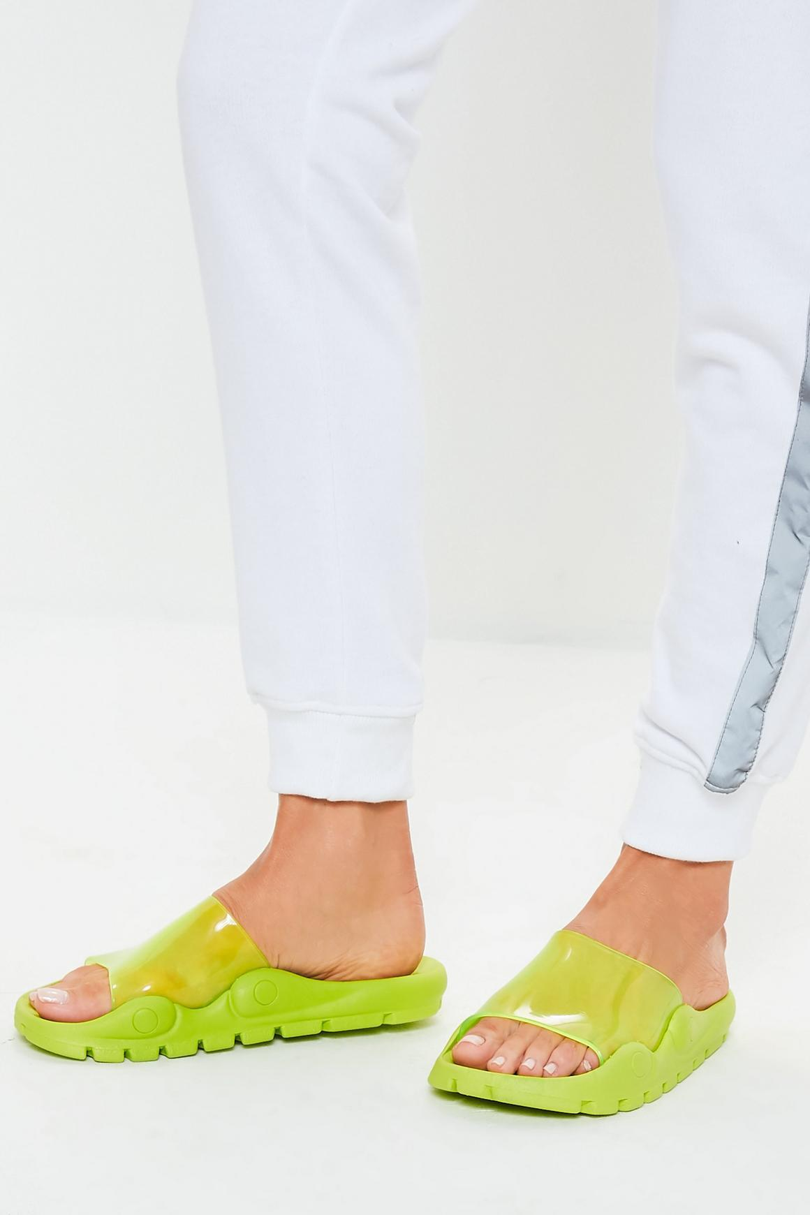 missguided. Sandalias flúor de Miss Guided