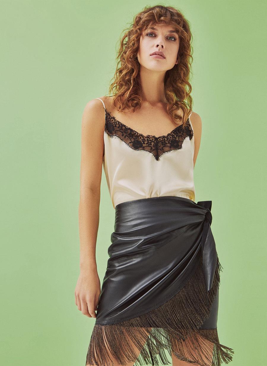 3fa40ce2f9 73 Fotos de Faldas de cuero