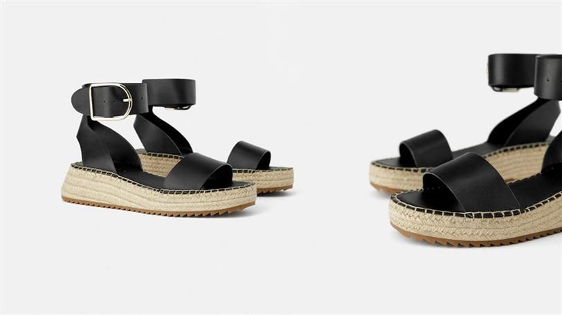 Imagen 1 de SANDALIA PLATAFORMA de Zara | Verano en 2019
