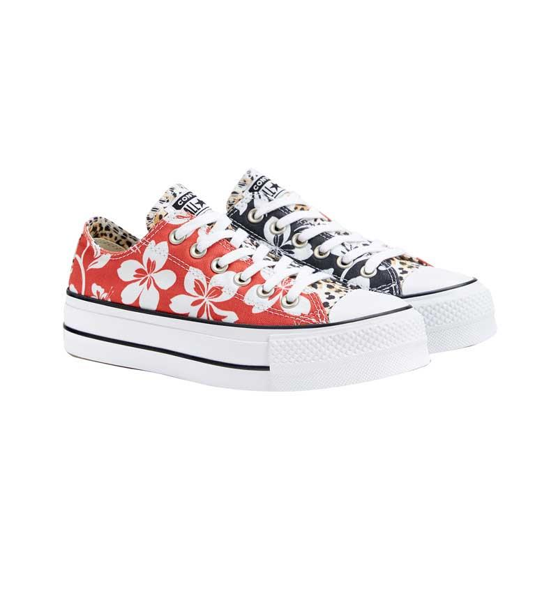 6848277c5 Converse-exclusive-for-Bershka 11039031203. Zapatillas Converse mujer  estampado hawaiano