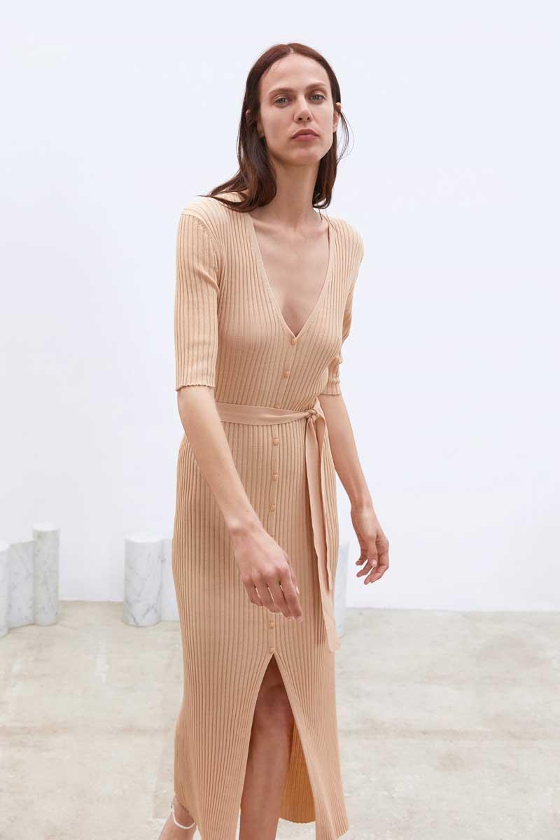 Zara Mujer Vestidos Vestidos De Punto Zara De Moda