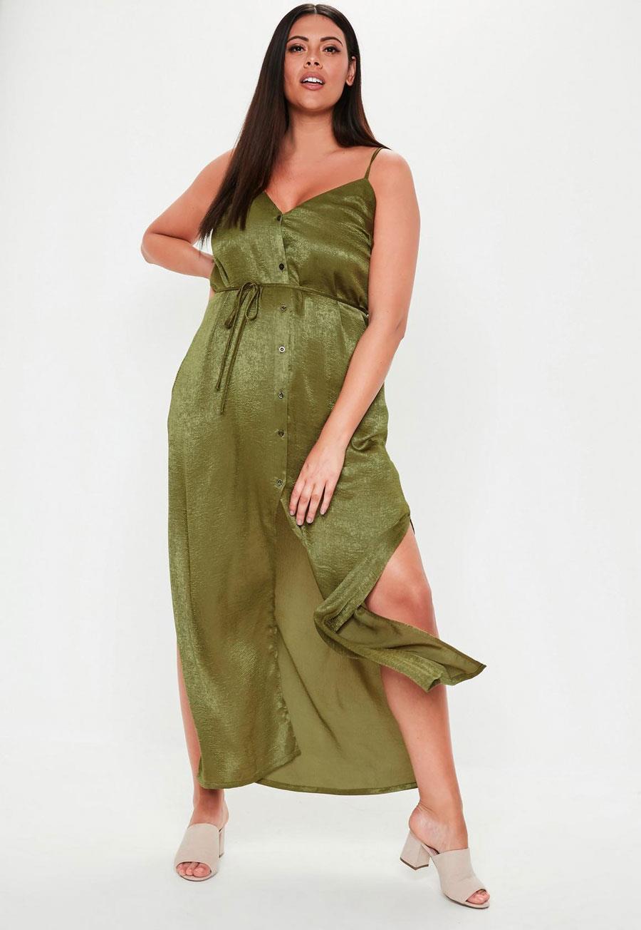 d508986e3e vestidos-de-fiesta-para-gorditas-verde-lencero. Vestido lencero