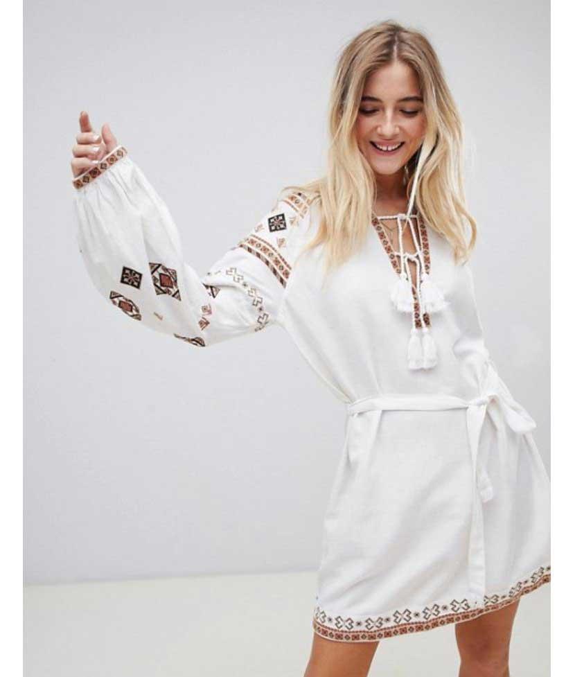 07945f0b0 vestido-blanco-con-bordados-asos. Vestidos blancos ibicencos