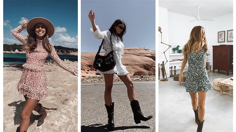 10 Vestidos Cortos Para Llevar Con Botas En Primavera