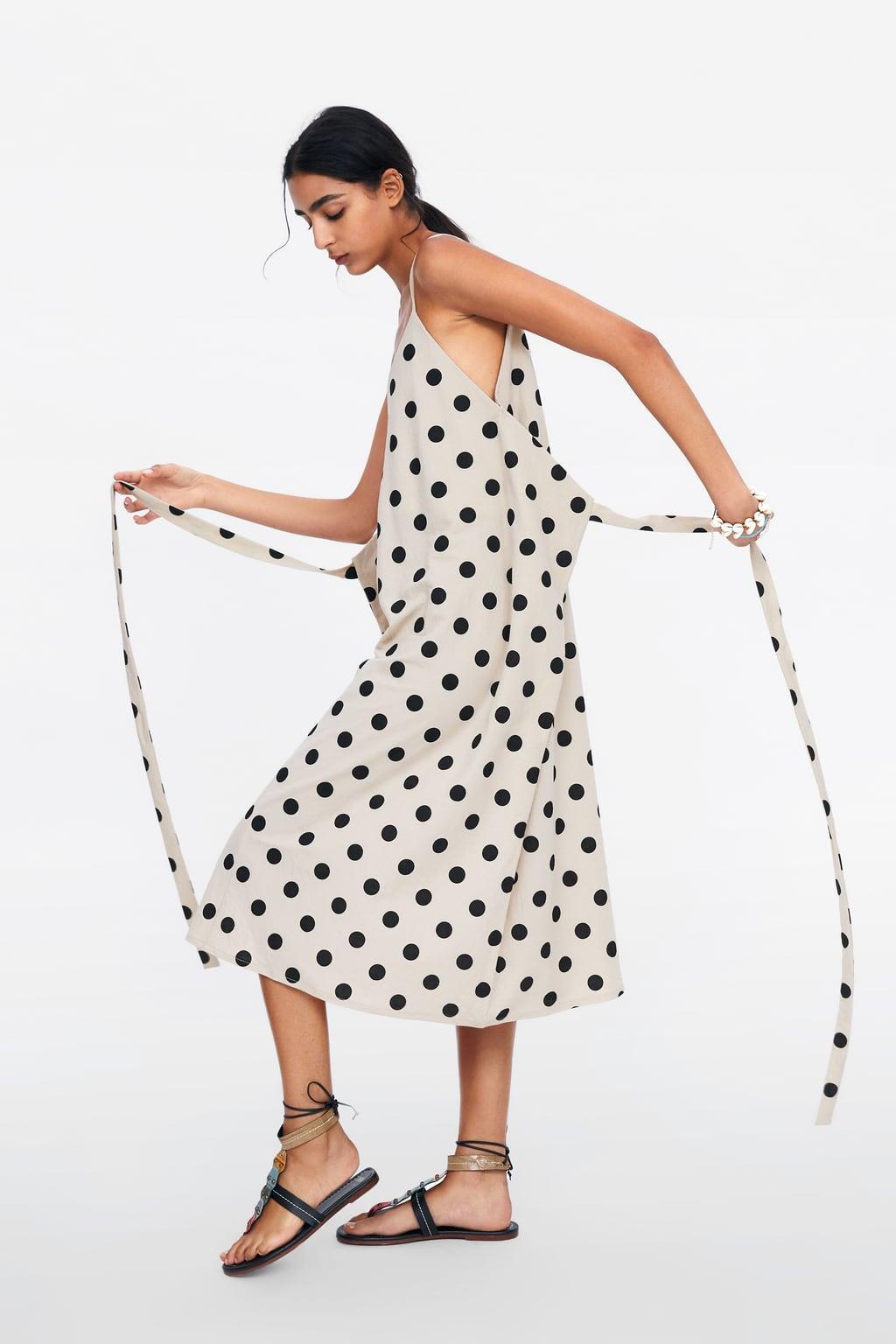 320266d314 vestido-multiposicion-zara-lunares. Vestido multiposición midi