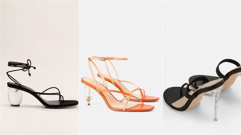 16872331 Tacón transparente: los zapatos de diseño más de moda primavera ...