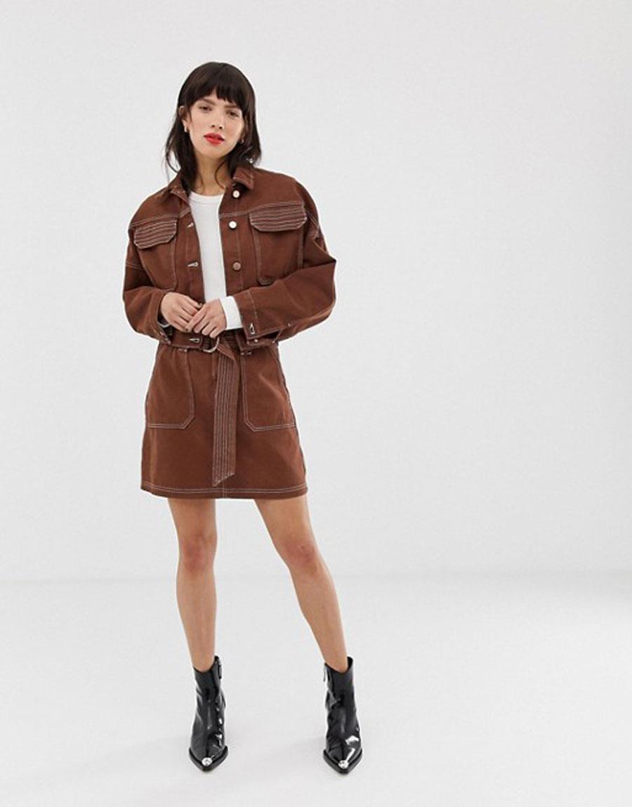 881088f48b colores-que-combinan-con-marrón-falda-marrón. Falda marrón