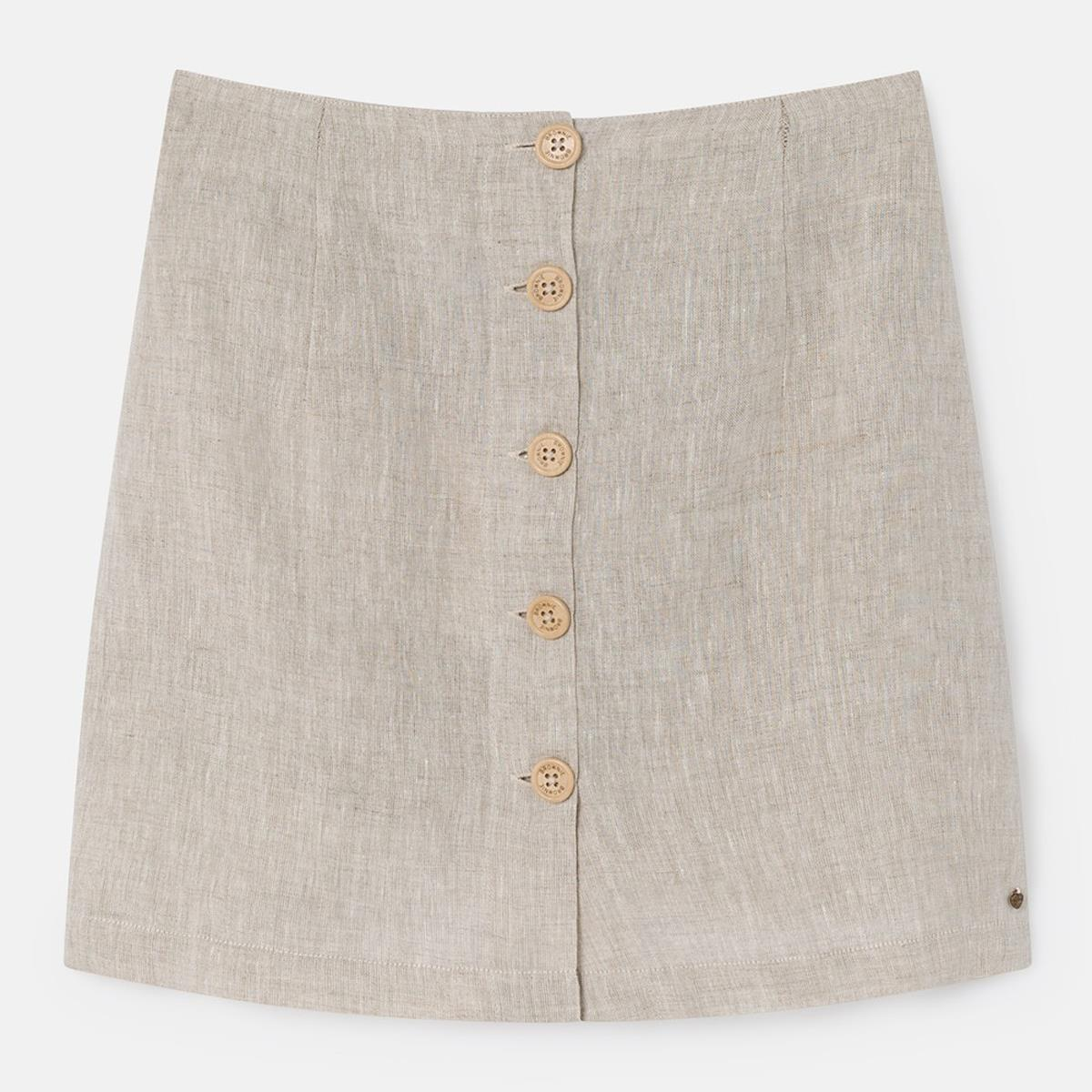 1d1c58e0035 falda de lino 100% de Brownie por 45