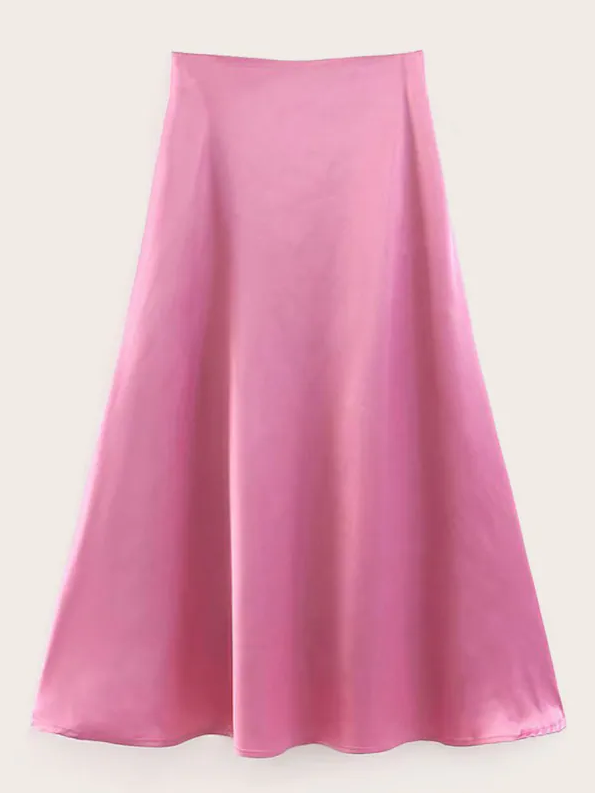 254d1b29981 COMPRAR. 18-falda-satinada-shein. Falda satinada rosa