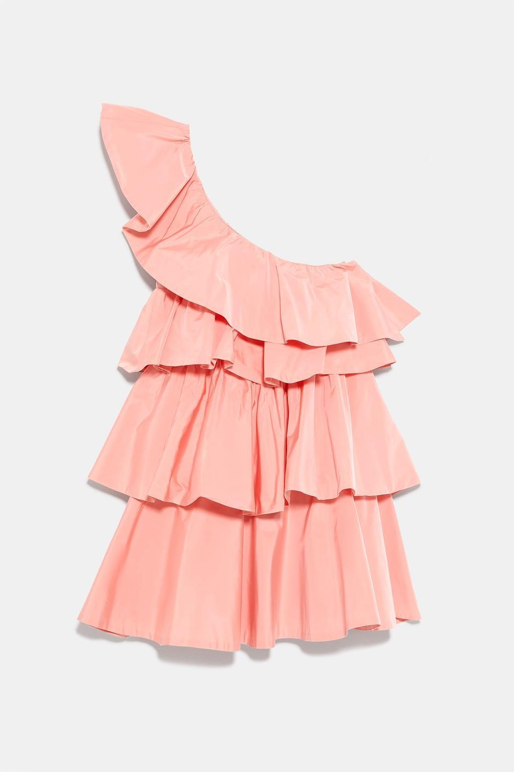 5d00e54075 Zara vestidos cortos  vestido volantes