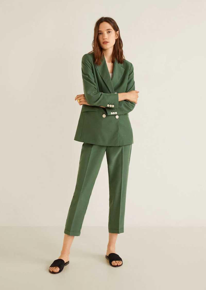 0d1f9d06fe Trajes de chaqueta mujer Mango